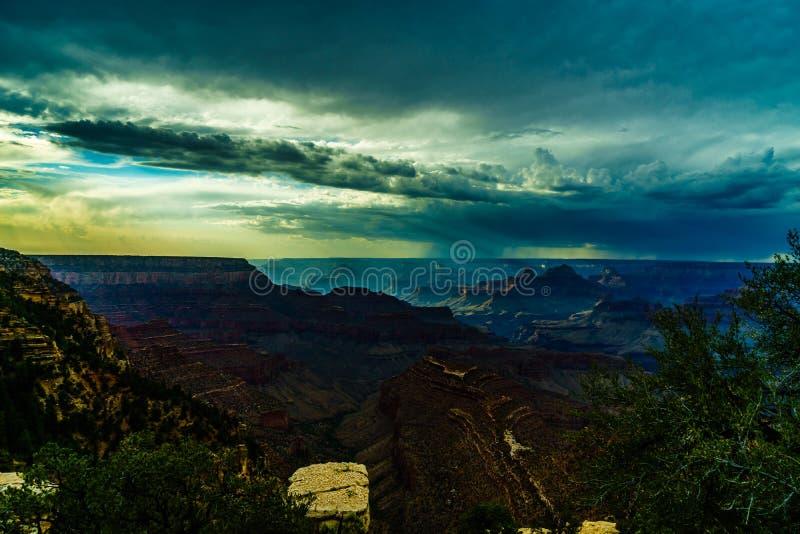 Watchtower för sikt för Grand Canyon nationalparköken arkivfoto