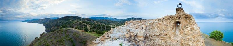 watchtower för panoramahavssikt royaltyfria foton