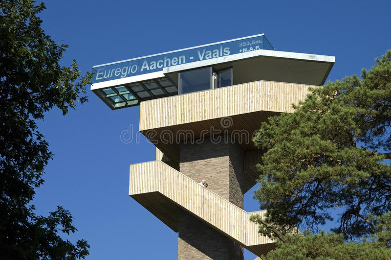 Watchtower at highest point in the Netherlands, Vaals royalty free stock photography