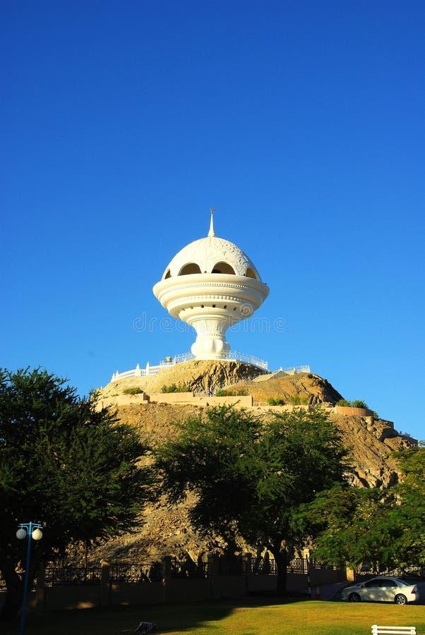 Watchtower in Muscateldruif, Oman stock afbeeldingen