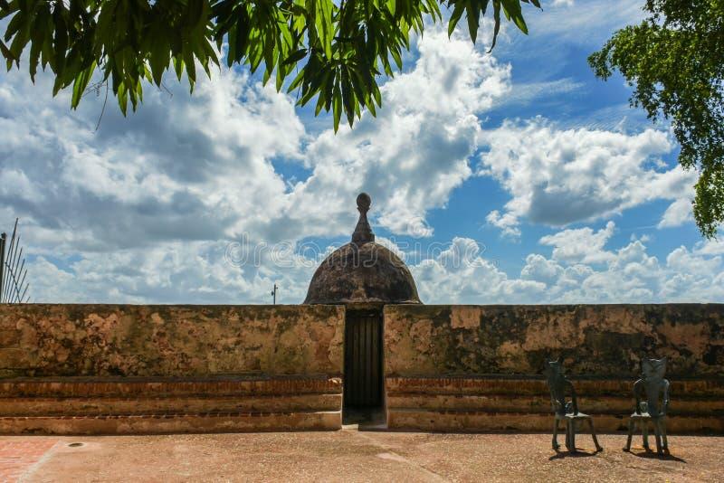 Watchtower old san juan royalty free stock photo