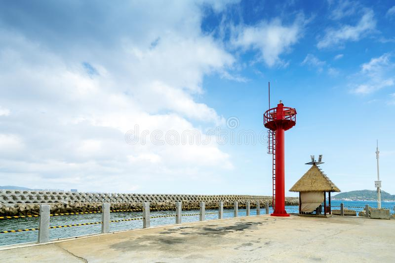Watchtower by the sea royalty free stock photography
