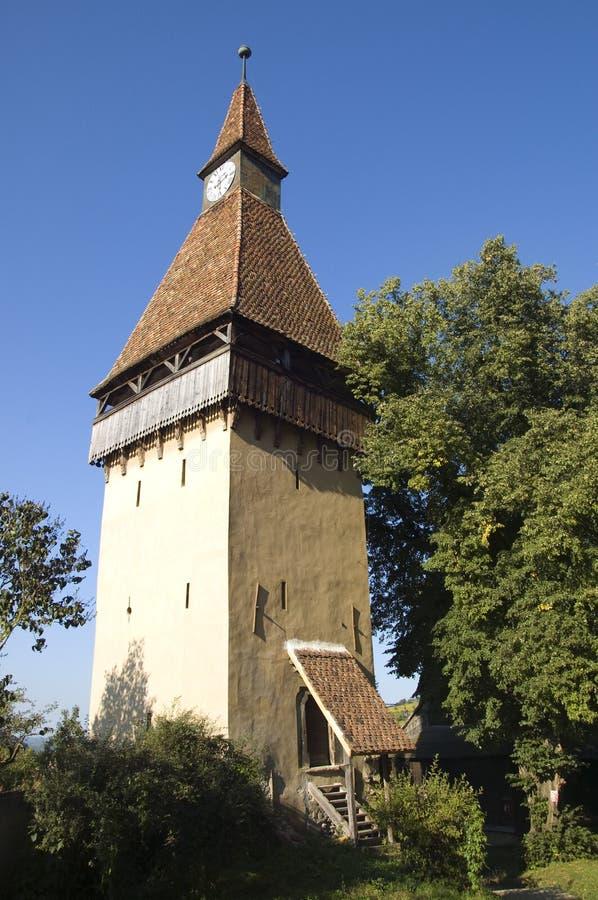 Watchtower van Biertan royalty-vrije stock afbeelding