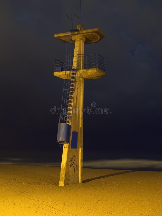 Watchtower van de badmeester in Torremolinos royalty-vrije stock afbeelding