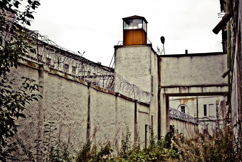 Watchtower van gevangenis Patarei in Tallinn - Estland royalty-vrije stock foto's