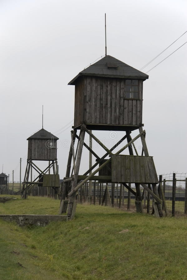 Free Watchtowers In The Former Concentration Camp Majdanek Royalty Free Stock Image - 27966976