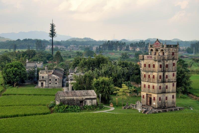 Watchtowers van Kaiping Diaolou in de provincie van Guangdong in China royalty-vrije stock afbeelding