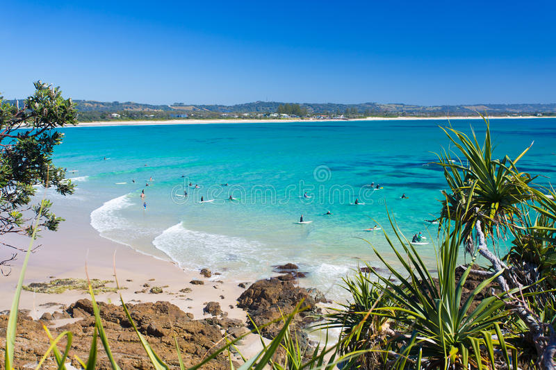 Wategoesstrand, Byron Bay, NSW, Australië stock foto