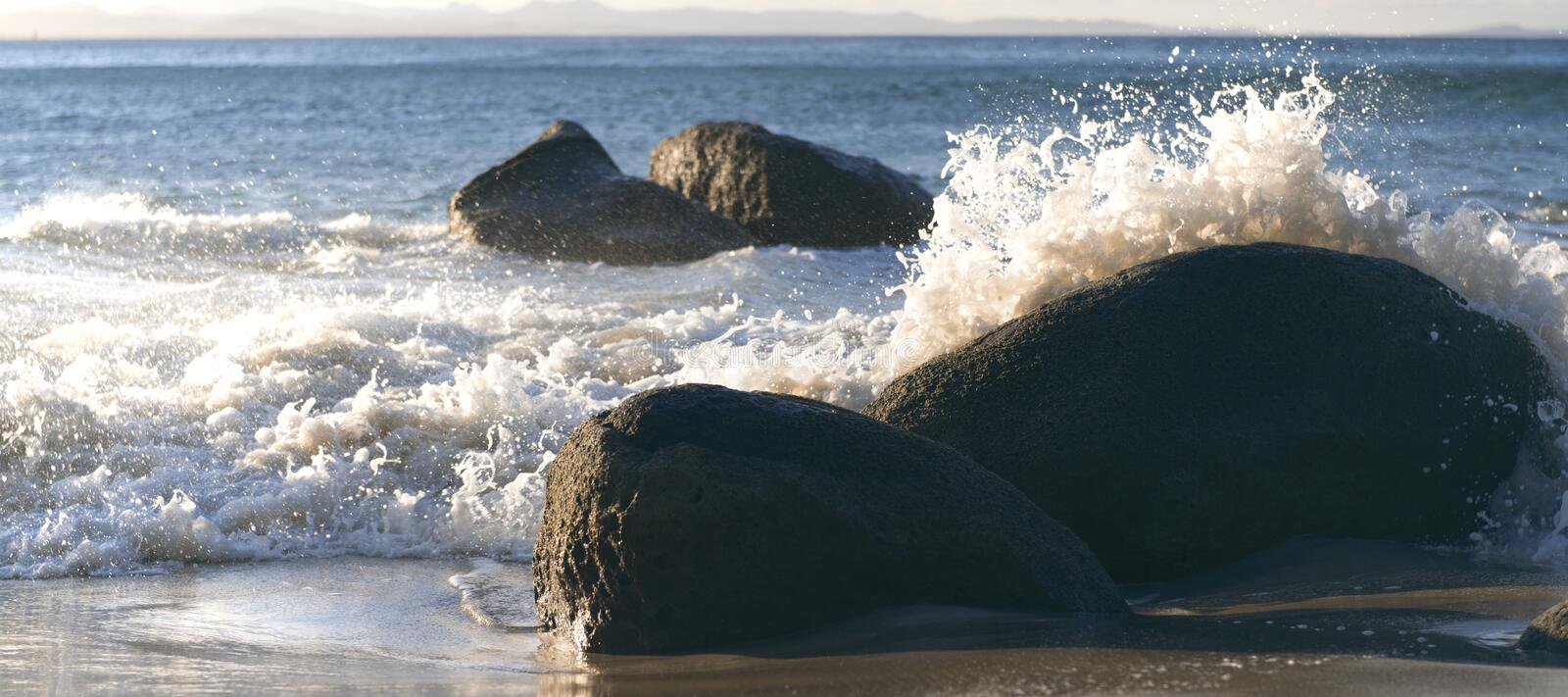 Wategos beach in Byron Bay. New South Wales in the late afternoon royalty free stock images