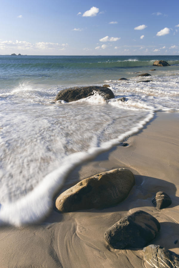 Wategos beach in Byron Bay. New South Wales in the late afternoon stock photo