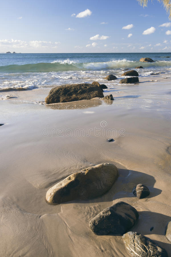 Wategos beach in Byron Bay. New South Wales in the late afternoon stock image