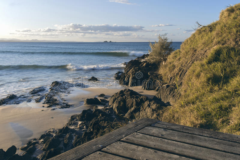 Wategos beach in Byron Bay. New South Wales in the late afternoon royalty free stock photography