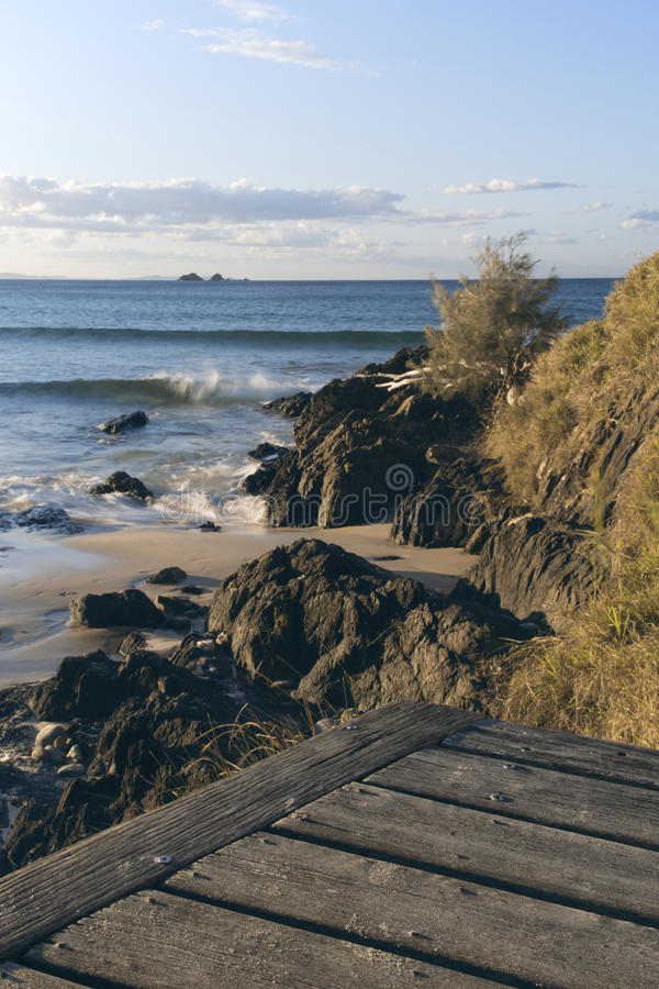 Wategosstrand in Byron Bay stock fotografie