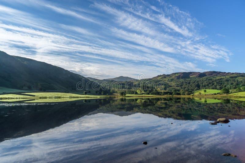 Watendlath Tarn. In the Lake District stock photography