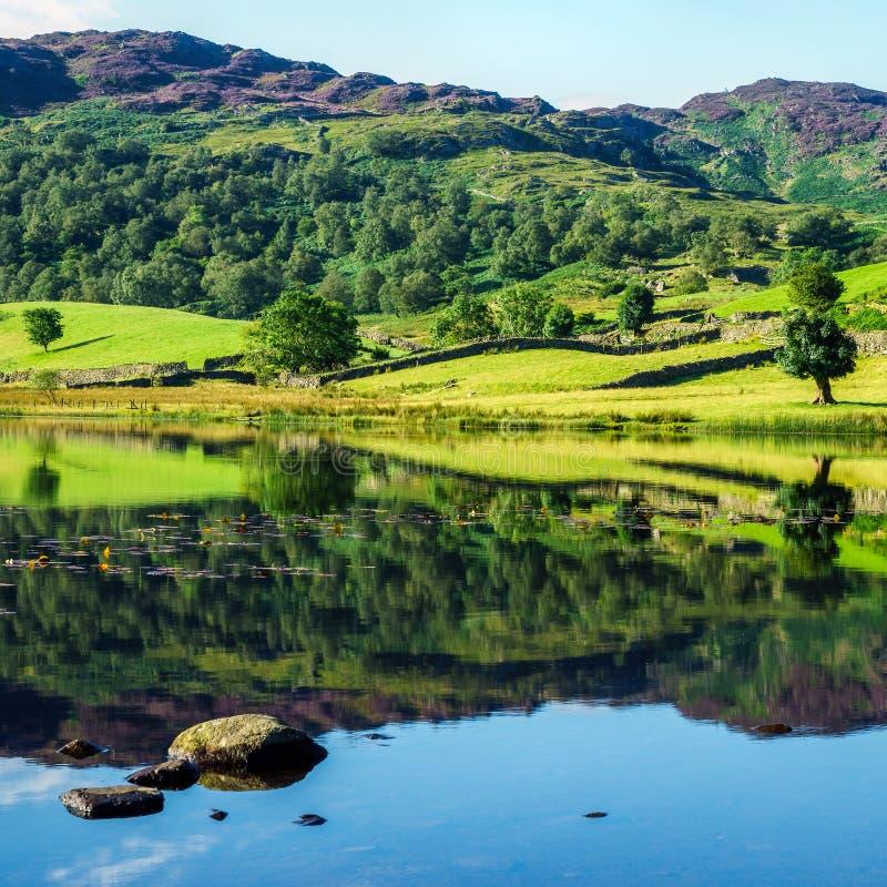 Watendlath Tarn. In the Lake District royalty free stock image