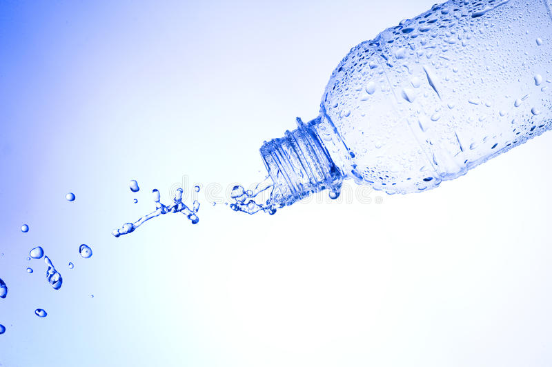 Water. And bottle .Mineral stock images