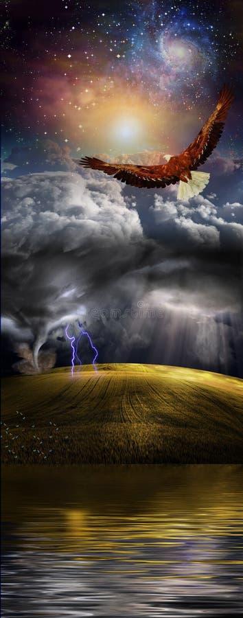 Water, Aarde, Hemel, en Ruimte stock illustratie