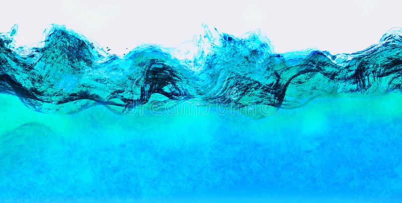 Water Waves Abstract royalty free illustration