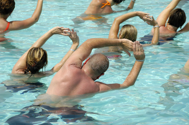Download Water aerobic stock image. Image of lifestyles, pool, back - 2901249