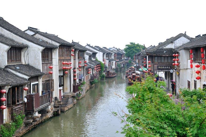 Water alley at suzhou stock photos