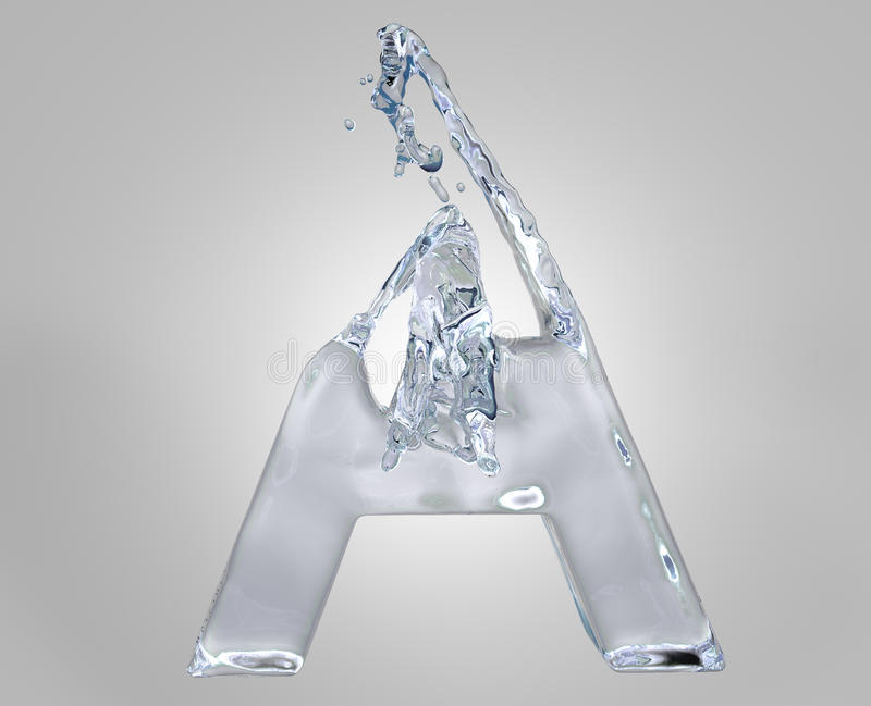 Download Water Alphabet Stock Images - Image: 16137784