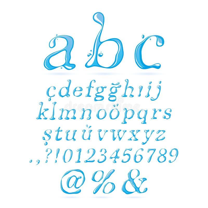 Text Decoration Italic: Water Alphabet Lower Case Italic Stock Photo