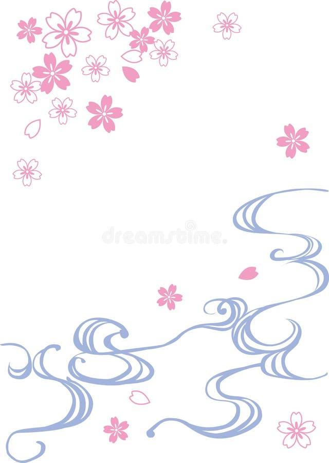 Water&cherry Blüten lizenzfreie abbildung