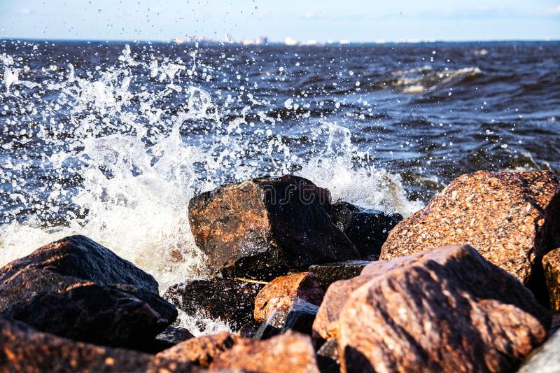 Water attacks a stone. Eweryday water attacks a stone royalty free stock photos