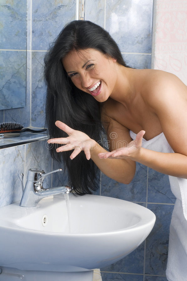 Water in bad royalty-vrije stock afbeelding