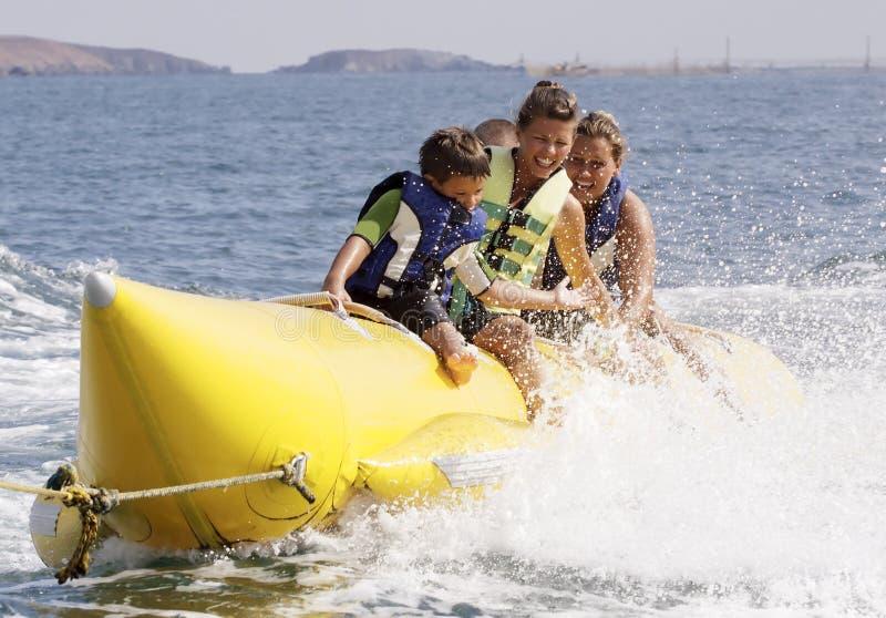 Water banana-banana boat. royalty free stock photo