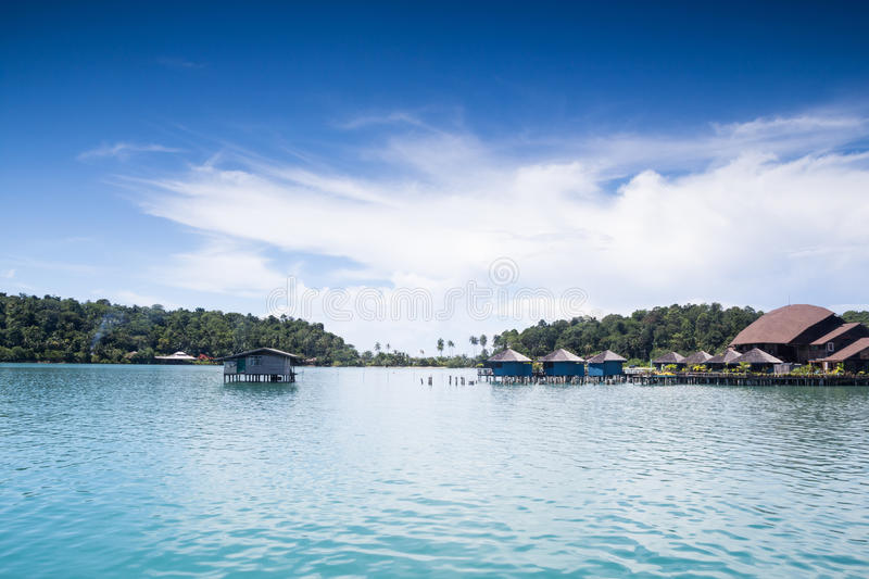 Water Bangalow on the Island. Trad, Thailand stock images