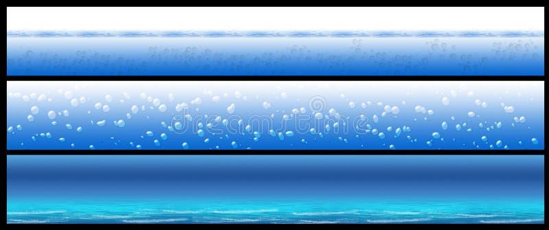 Water banner set stock photos