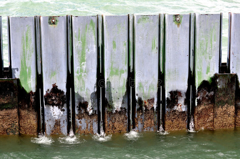 Download Water_barrier stock image. Image of lake, decay, breakwater - 14876405