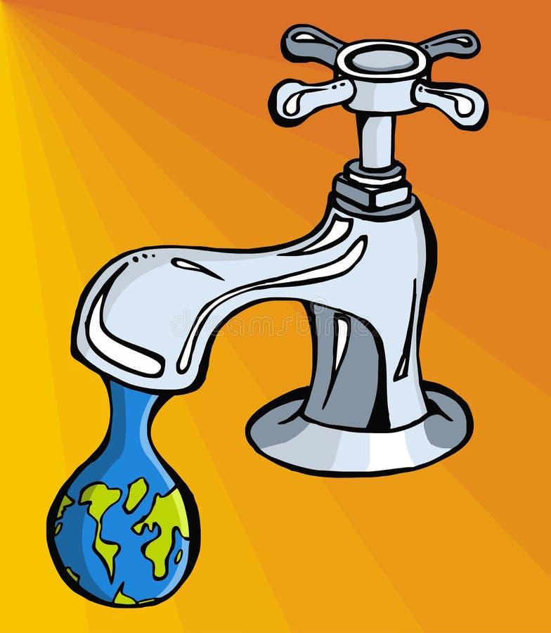 Water: beperkt middel stock illustratie
