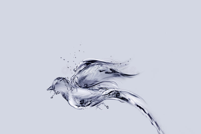 Water Bird Flying. A bird made from water flying away