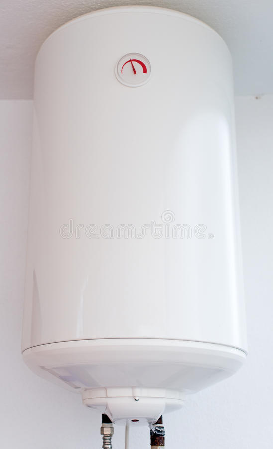 Water boiler on the wall. royalty free stock photos
