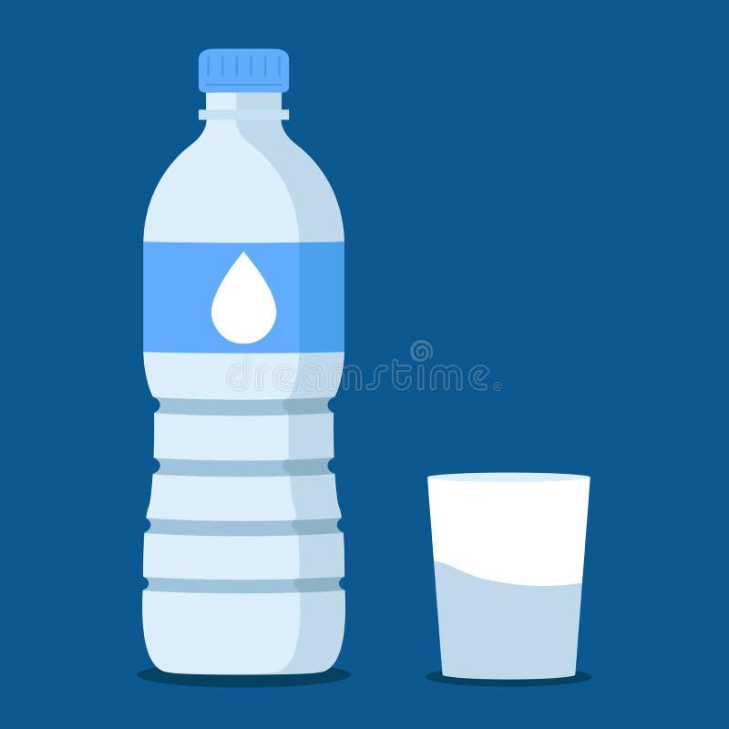 Water bottle in blue royalty free illustration