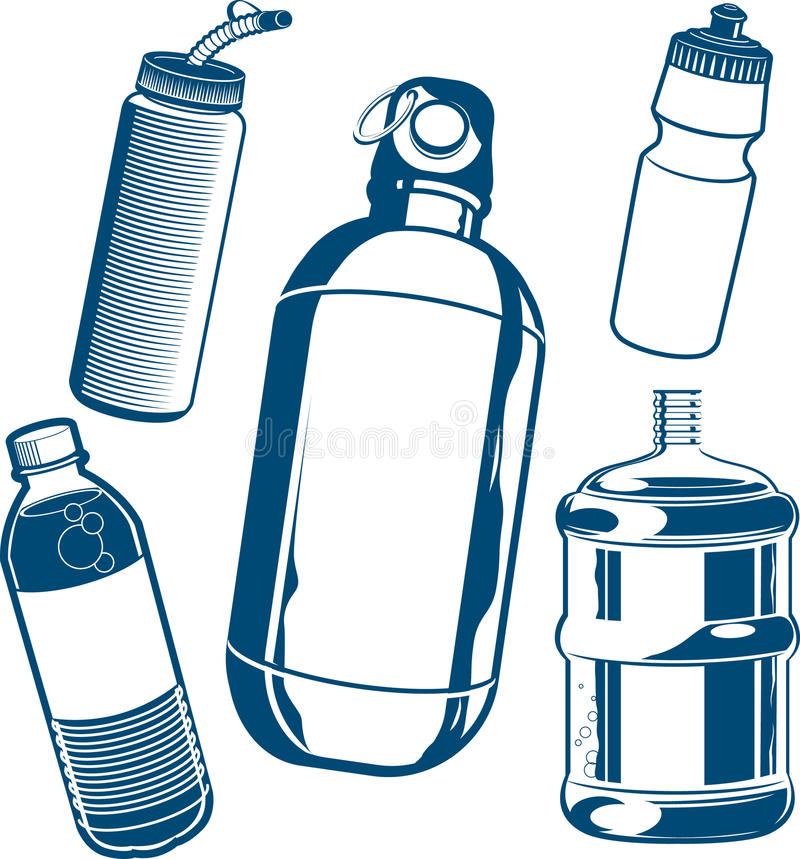 Water Bottle Graphic: Water Bottle Collection Stock Vector. Image Of Canteen