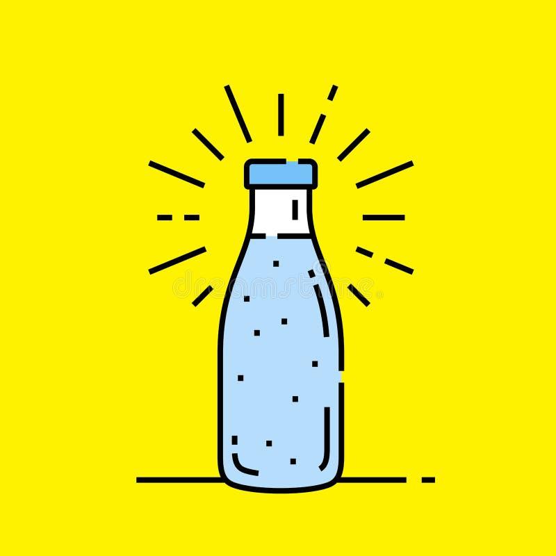 Water bottle icon vector illustration