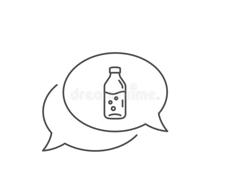 Water bottle line icon. Soda aqua sign. Vector royalty free illustration
