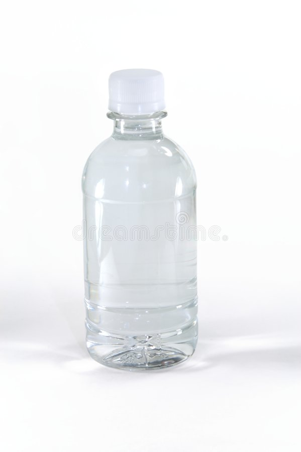 Water bottle with no label stock photography