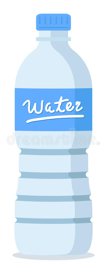 Water bottle. Plastic recycled blue water bottle royalty free illustration