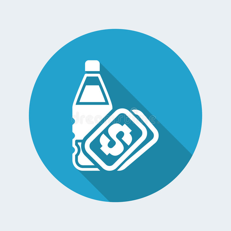 Water bottle price vector illustration