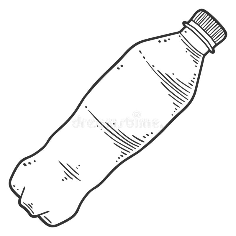 Free Water Bottle. Vector Concept In Doodle And Sketch Style Royalty Free Stock Photos - 156156788
