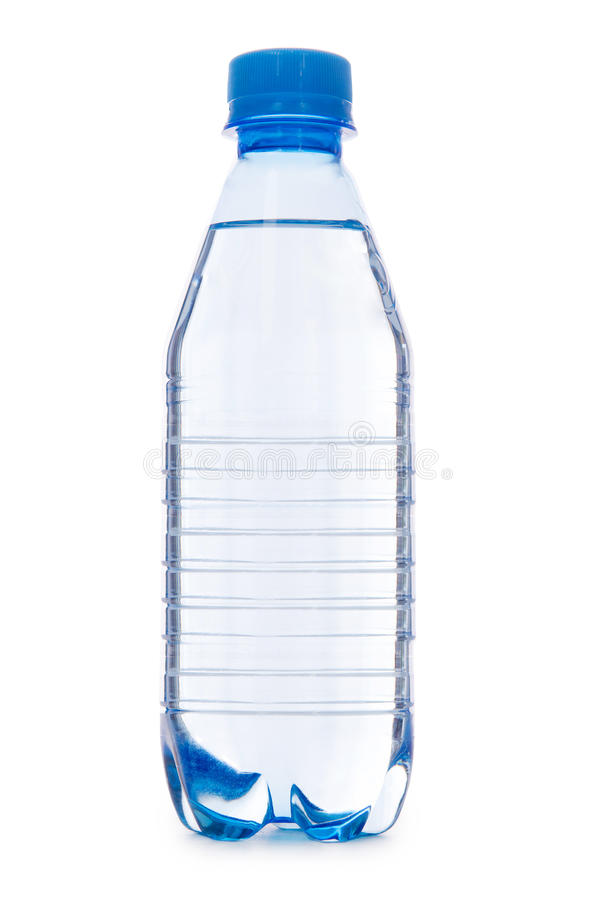 Water bottle on the white stock image