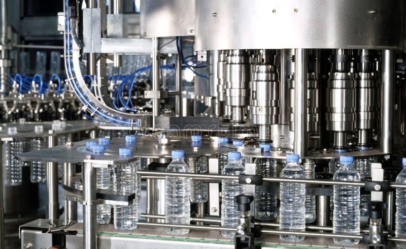 Water bottling plant. Plastic Bottles in Water Bottling Plant royalty free stock image