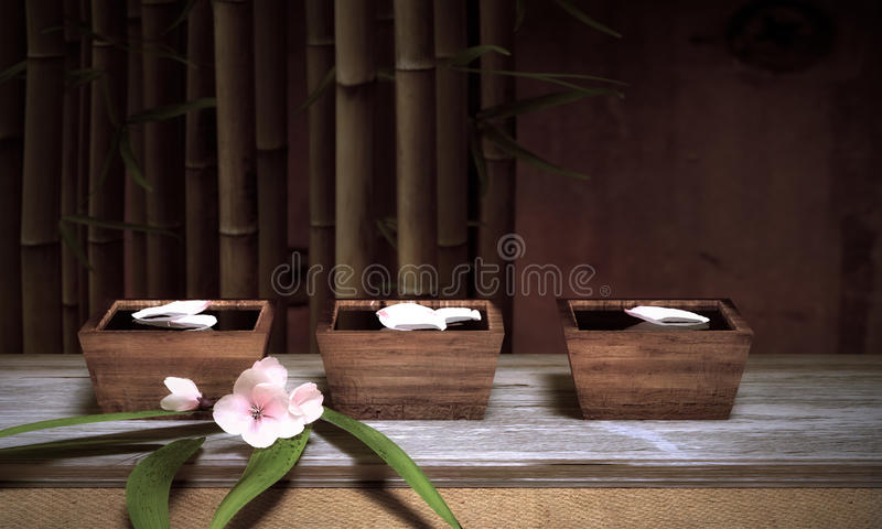 Download Water Bowls stock illustration. Image of leaves, blossom - 40515657
