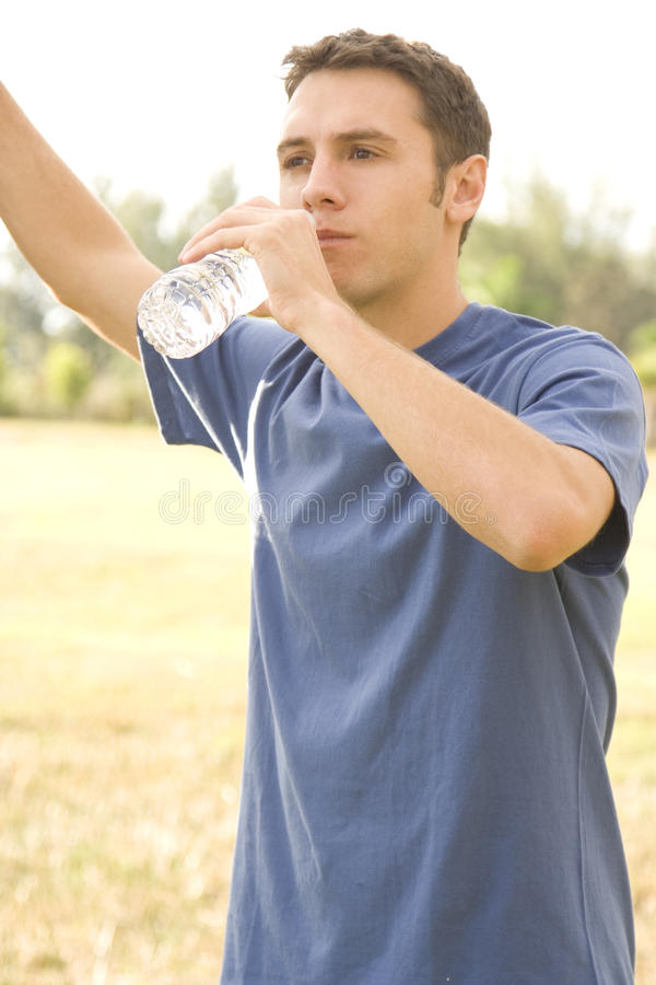Download Water Break stock photo. Image of exercising, person - 12202418