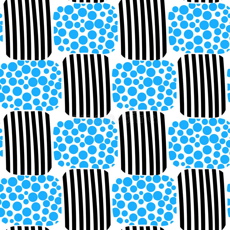 Free Water Bubbles And Stripes Beach Seamless Pattern Stock Image - 30875811