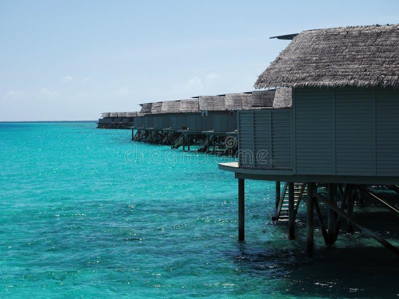 Water bungalow Maldives stock image